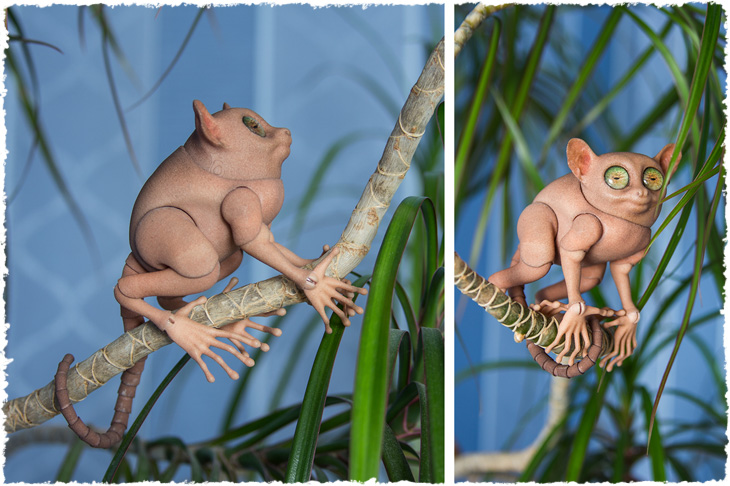 Our first 3D printed bjd Tarsier