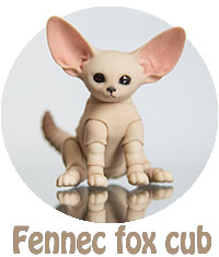 Full information about 3D printed BJD Fennec fox cub