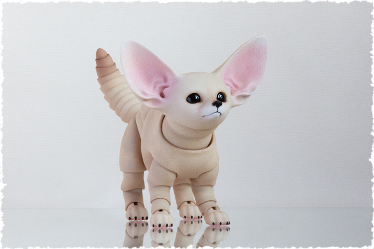 3d printed bjd fennec fox cub new pianting style