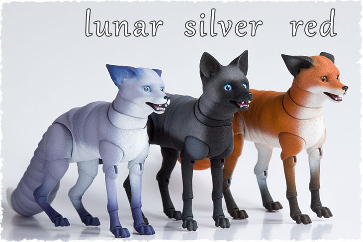 There are 3 colors of BJD adult fox