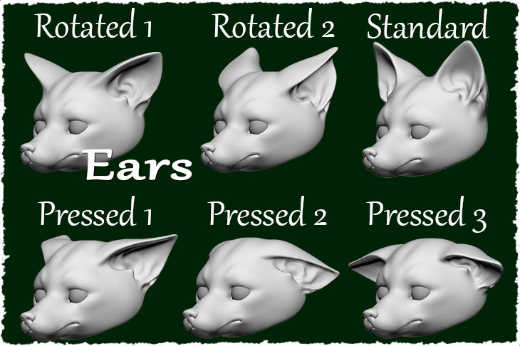 Ears of the fox doll